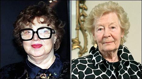 Dame Muriel Spark and Nina Bawden
