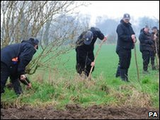 Police search fields in York