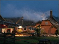 Fire at the Three Horseshoes Inn