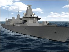 Concept design for Type 26 combat ship