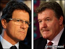 Fabio Capello (l) and John Toshack
