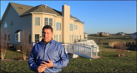 Chuck Izzo at his house in Virginia