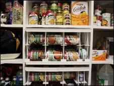 Food storage at Chuck Izzo's house in Virginia