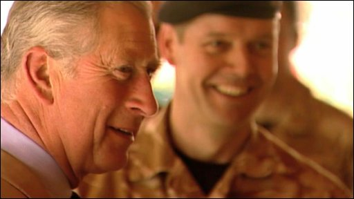 Prince Charles with British soldiers