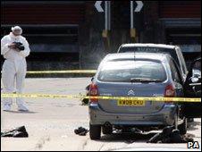 The scene of the shooting in Newton Heath