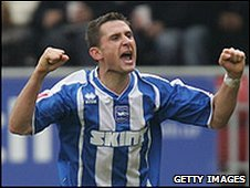 Brighton striker Nicky Forster