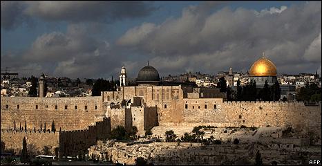 Jerusalem skyline - December 2009