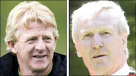 Former Celtic managers Gordon Strachan and Billy McNeill