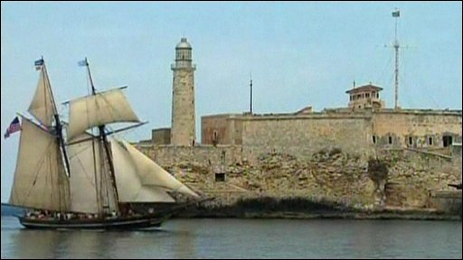 Amistad replica sails into Cuba's capital Havana