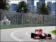 Timo Glock's Virgin at the Australian Grand Prix
