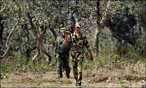 Indian troops in Jharkhand
