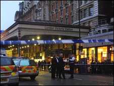 Police at Victoria station