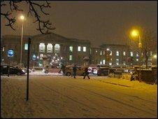 Royal Berkshire Hospital in snow (pic taken by Mark Cavill)