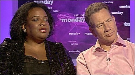 Diane Abbott and Michael Portillo
