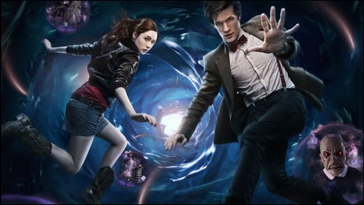 The 11th Doctor Who Matt Smith with his companion Karen Gillan