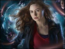 Karen Gillan as Doctor's companion Amy Pond