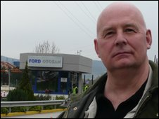 Bill Chandler at the Ford factory in Turkey