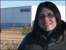 Penny Draper at Vestas factory in US