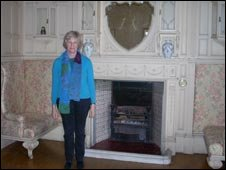 Caroline Magnus in one of the bedrooms at Stokesay Court