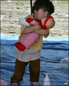 A young Iraqi child