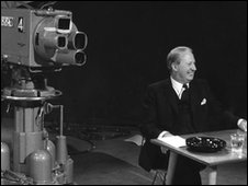 Edward Heath and a television camera
