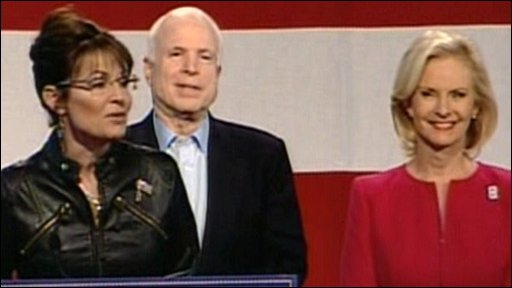 Sarah Palin with John and Cindy McCain