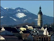 Panoramic of Traunstein, Germany
