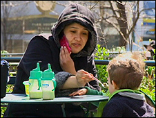 Nanny feeds a boy in NY