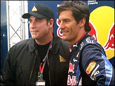 John Travolta and Mark Webber