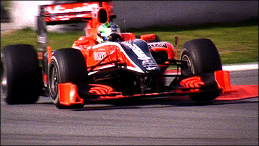 Virgin Racing in testing