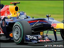 Sebastian Vettel's Red Bull in qualifying for the Australian Grand Prix