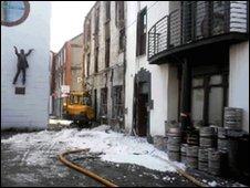 Donegall Street fire scene