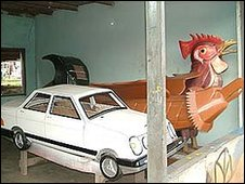 Car and chicken coffin [Photo: Nicky Barranger]