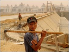 Construction worker in Nay Pyi Taw