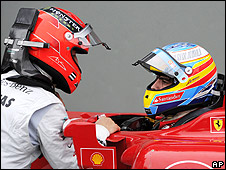 Schmacher speaks with Alonso