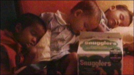 Three sleeping children