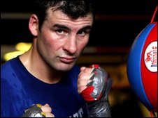 Joe Calzaghe at his father's gym