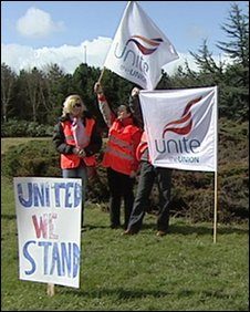 Picket at Glasgow Airport