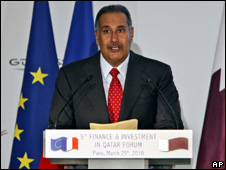 Sheikh Hamad Bin Jasim Al Thani in Paris (25 March 2010)