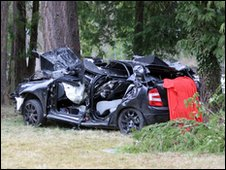 The Skoda car involved in the crash