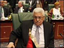 Mahmoud Abbas at the Arab League Summit in Sirte, Libya, 28 March 2010