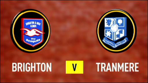 Brighton 3-0 Tranmere