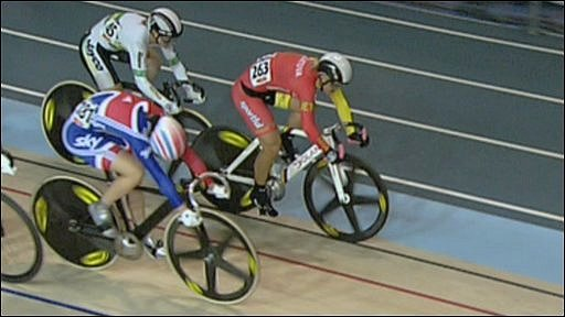 Keirin finish
