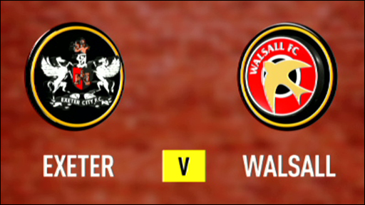 Exeter 2-1 Walsall