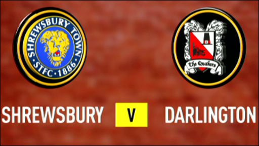 Shrewsbury 0-2 Darlington