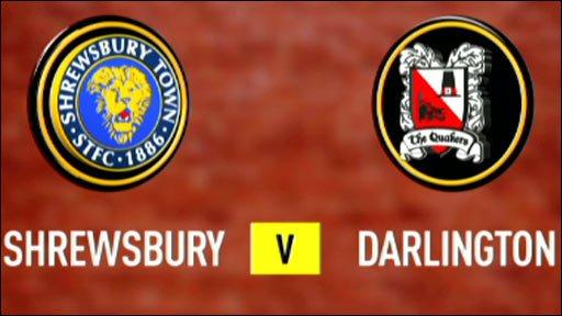 Shrewsbury 0-2 Darlington