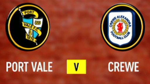 Port Vale 0-1 Crewe