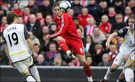 Fernando Torres opens the scoring in spectacular fashion