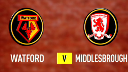 Watford 1-1 Middlesbrough