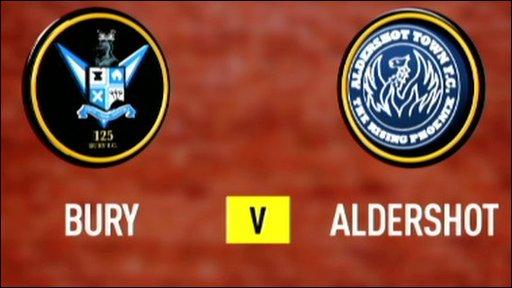 Bury 1-2 Aldershot